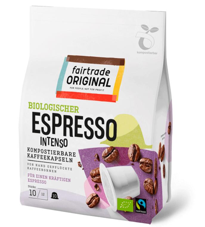 Fairtrade Kaffee Espresso Intenso – Nespresso Kapseln