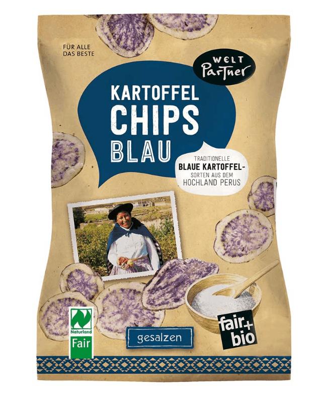 Weltpartner Kartoffelchips blau gesalzen