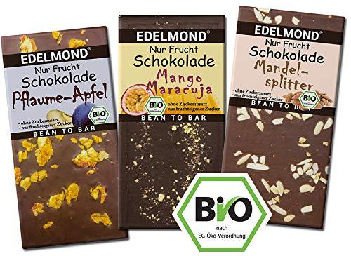 Edelmond Schokolade FRUCHT Paket   Bio & fair trade
