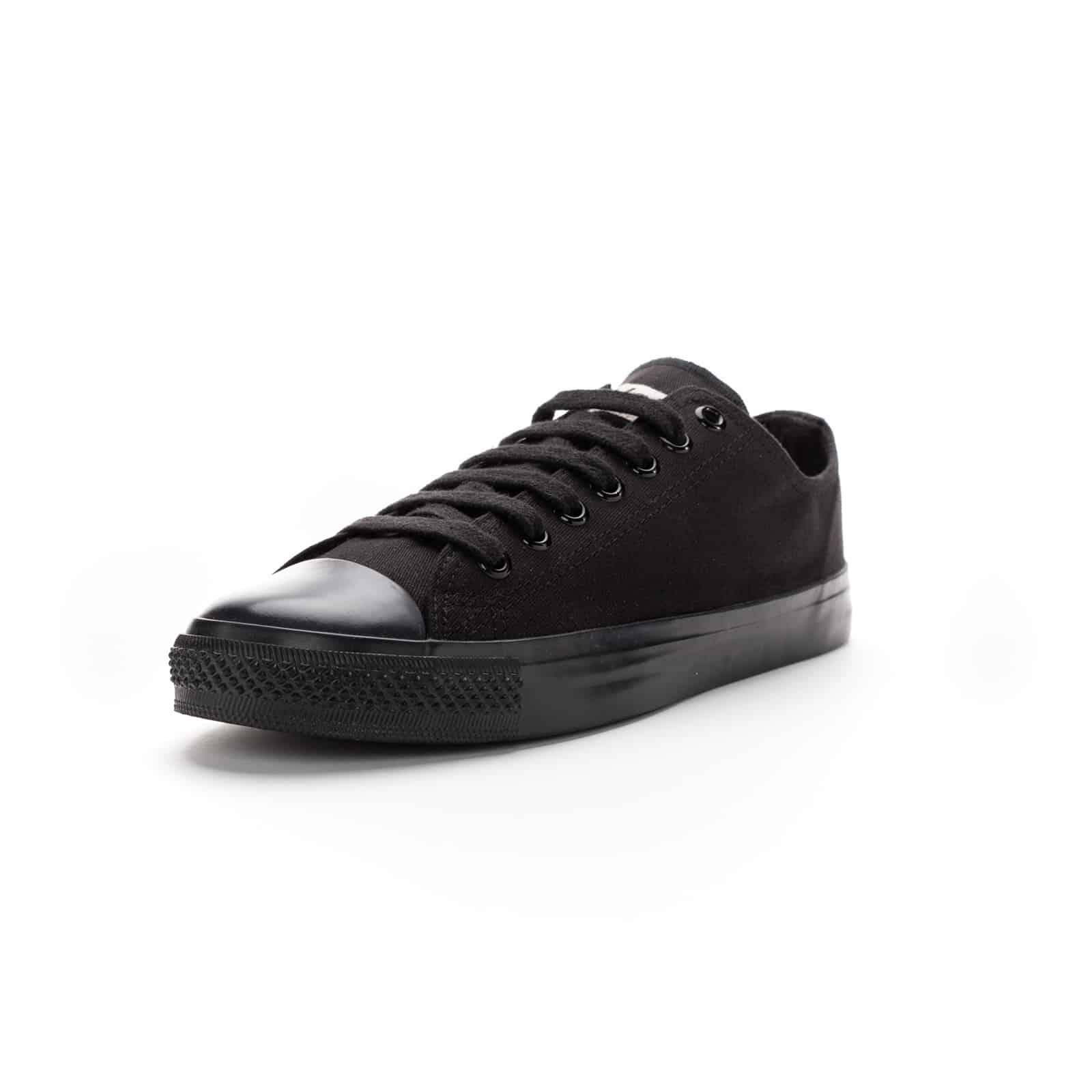 Faire Sneaker Schwarz | Black Cap Lo Cut